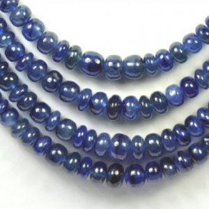 3mm – 5mm SAPPHIRE smooth blue roundelle beads 3 U$ Per Carat