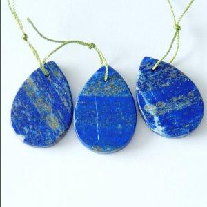 3 PCS Natural Lapis Lazuli Beads,80.5 CTS,80.5 Cts 125 U$ Per Carat