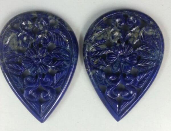 Gemstone Lapis Handmade Carvings