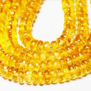 5mm – 6mm orange CITRINE faceted beads rondelles 6 U$ Per Carat