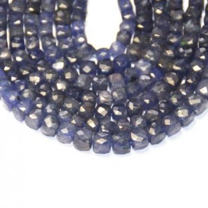 blue cube faceted beads 6mm – 7mm 8-line 5 U$ Per Carat