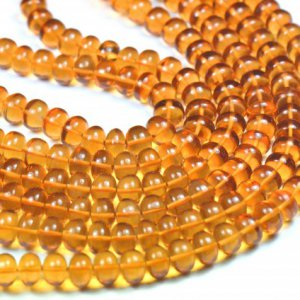 8line 6 TO 7MM MADEIRA CITRINE smooth beads 8 U$ Per Carat