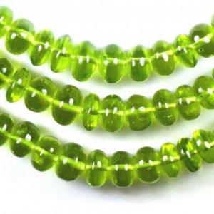 6mm – 8mm Peridot smooth beads 15 U$ Per Carat