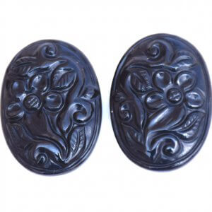 Black Onyx Gemstone Carvings-14