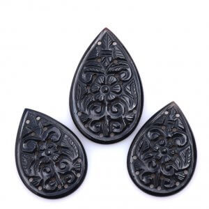 Black Onyx Gemstone Carvings-15