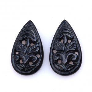 Black Onyx Gemstone Carvings-17