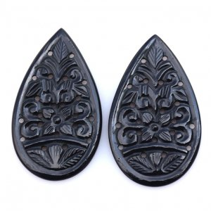 Black Onyx Gemstone Carvings-18