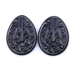 Black Onyx Gemstone Carvings-19