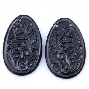 Black Onyx Gemstone Carvings-20