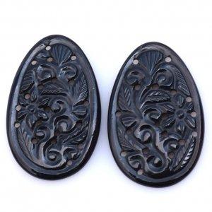 Black Onyx Gemstone Carvings-20