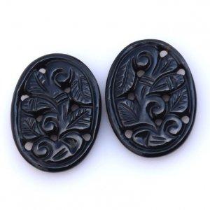 Black Onyx Gemstone Carvings-21