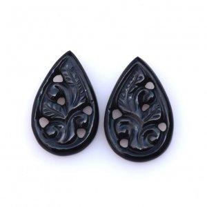 Black Onyx Gemstone Carvings-22