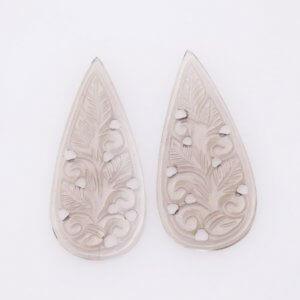 Smoky Gemstone Handmade Carving