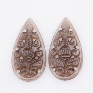 Handmade Smoky Gemstone Carving