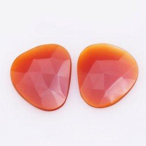 Natural CAROLINE gemstone octagan shape 22x25mm 22.50ct 26$ pair