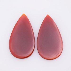 Natural CAROLINE Oval shape gemstone pair 22x32mm 25.30ct 22$