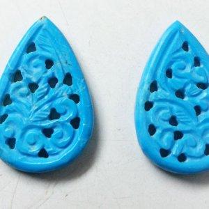 Turquoise Gemstone Handmade Carvings