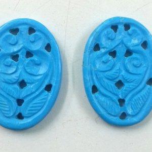 Turquoise Gemstone Handmade Carving